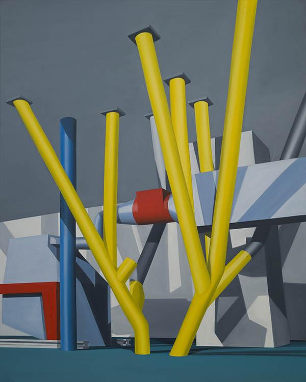 Sébastien Mettraux, Sans titre, 2016, huile sur toile, 200 x 160 cm