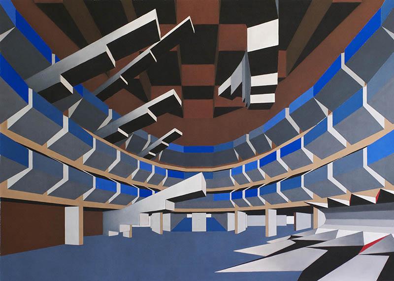 Guillaume Estoppey, Assignation, mine de plomb et craie pastel sur tissu non-tissé, 100140 cm, 2013