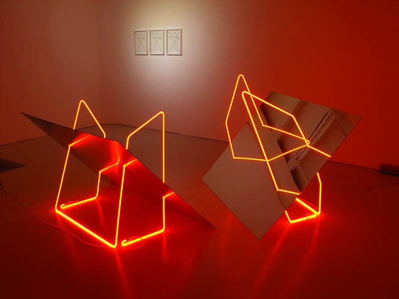 Barbezat-Villetard, Castor et Pollux, néon et dibond, 2015